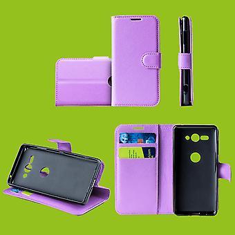 Für Samsung Galaxy S10e G970F 5.8 Zoll Tasche Wallet Premium Lila Schutz Hülle Case Cover Etui Neu Zubehör