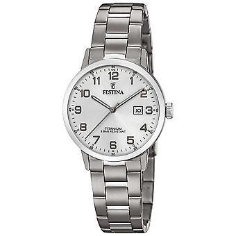 Festina | Womens Titan | Silver Dial | Titan armband | F20436/1 klocka