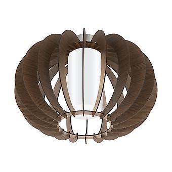 Eglo - Stellato 3 singola luce Semi incasso soffitto montaggio In marrone legno e bianco finitura EG95589