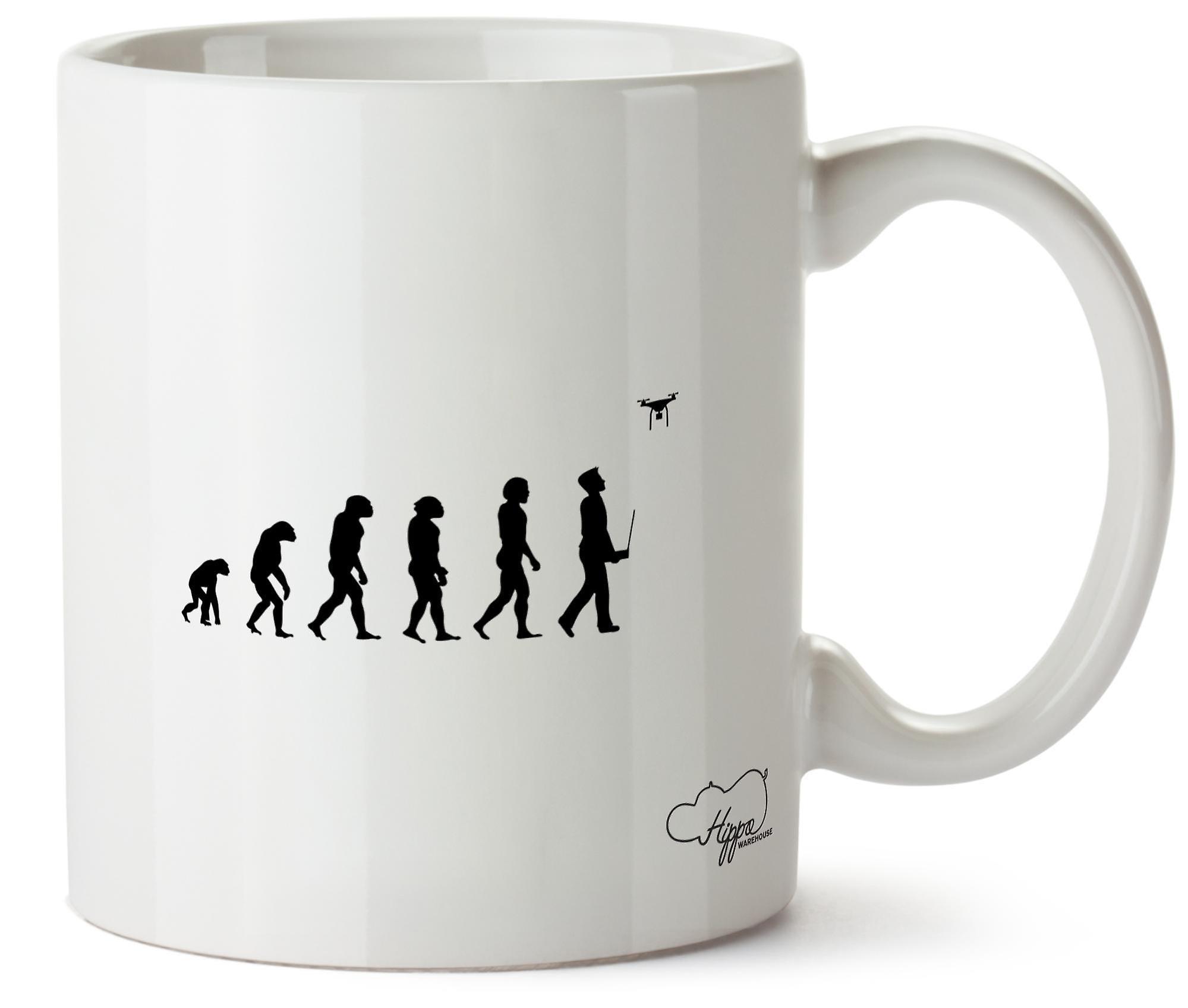 Hippowarehouse Evolution Of Drones Printed Mug Cup Ceramic 10oz