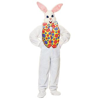 Easter Bunny Super Deluxe Plush Mascot Rabbit Suit Adult Mens Costume STD