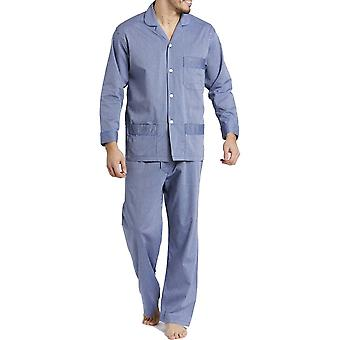 British Boxers Minster Silver Blue Men's Pyjama Set