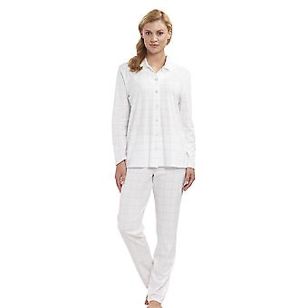 Féraud 3883160-11697 Mujeres's High Class Ivory Off White Plaid Set