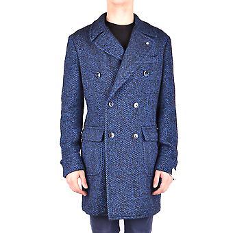 L.b.m. Ezbc215008 Men's Blue Wool Coat