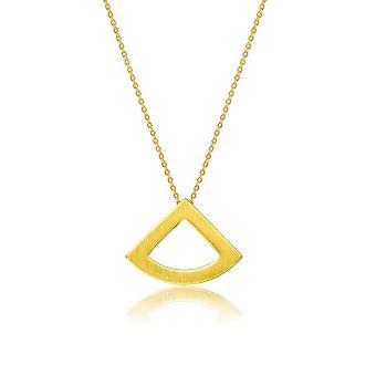 Kaytie Wu Gold Plated Fan Necklace 28061