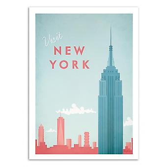 Art-Poster - Visit New York - Henry Rivers 50 x 70 cm