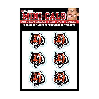 Wincraft 6er Gesicht Aufkleber 3cm - NFL Cincinnati Bengals