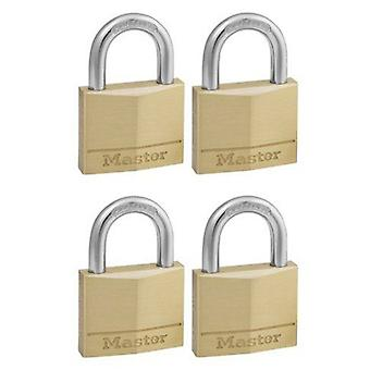 Masterlock 4 x 40mm brass padlock Ka (DIY , Hardware)