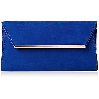 SwankySwans Womens Sabrina Suede look party Prom clutch clutch Sabrina Suede Look Party Prom Clutch Bag blue