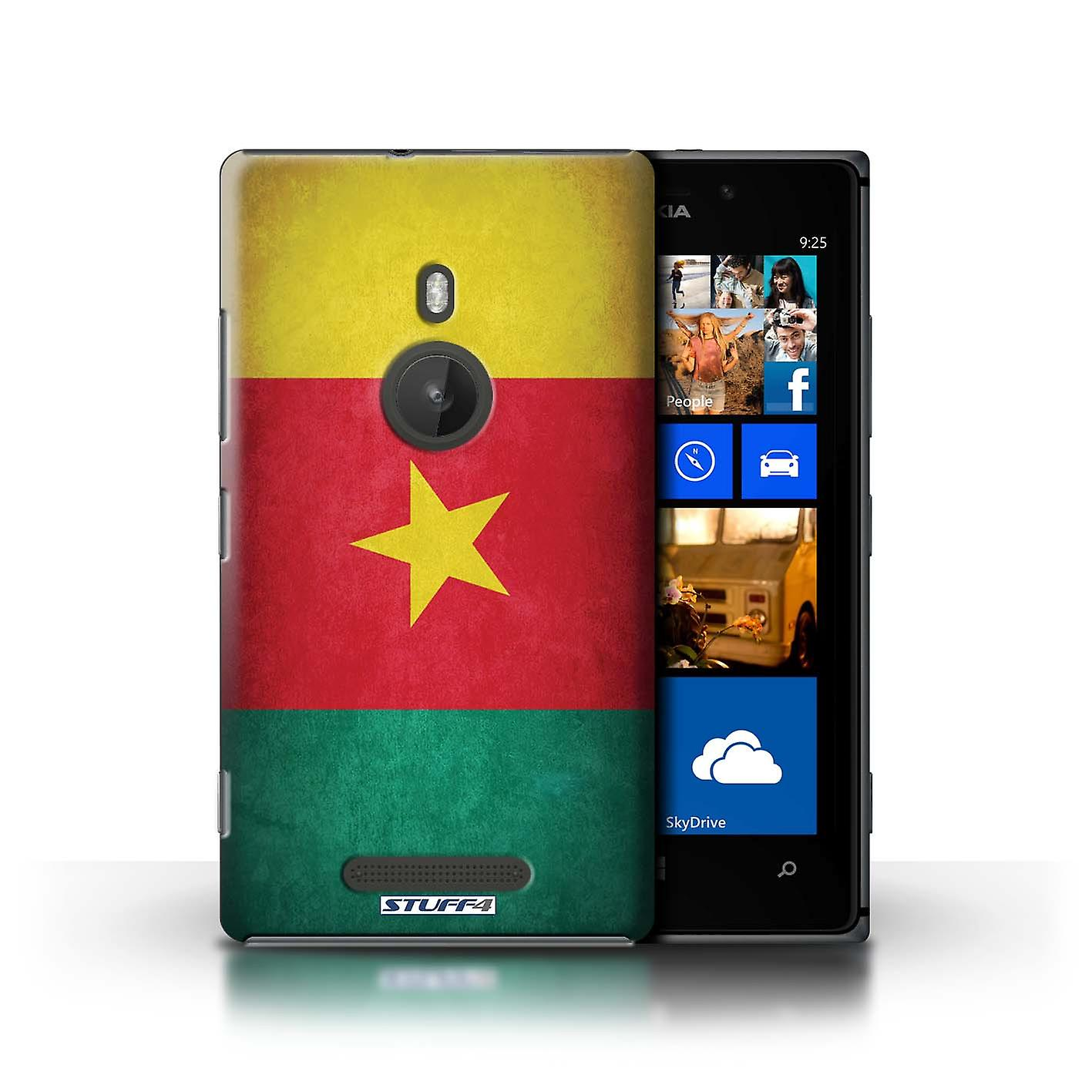 STUFF4 Case/Cover for Nokia Lumia 925/Cameroon/Cameroonian/Flags