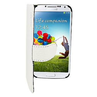Suncia Leather2 Case for Samsung i9500 Galaxy S4 White