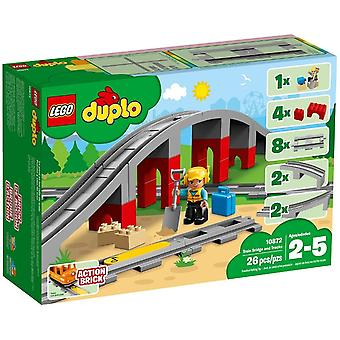 LEGO Train bridge and 10872-rails