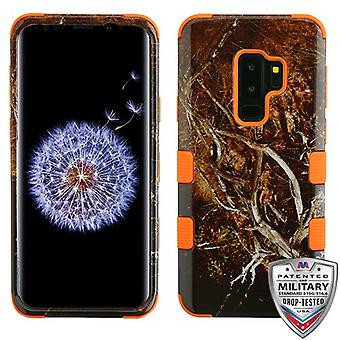 MYBAT geel/zwart Vine/Orange TUFF Hybrid Phone Protector cover voor Galaxy S9 plus