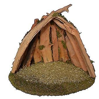 UNIKAT Root Crib 2 Christmas crib Stall Crib syness stall Genuine wood handmade from Bavaria for figures up to 15 cm