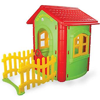 Pilsan 06194 Magical playhouse indoors, outdoors with fence, 172 x 131 x 112 cm