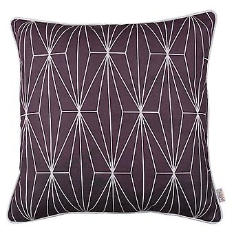 Purple Geometric Lines Decorative Throw Pillow Cover