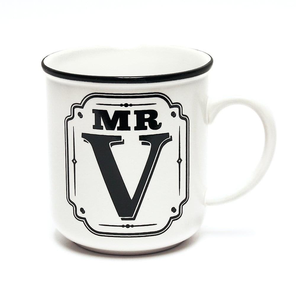 History & Heraldry Alphabet Mugs-mr V