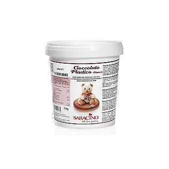 Saracino mallinnus pasta-valkoinen suklaa-1kg X 6-BULK 6KG