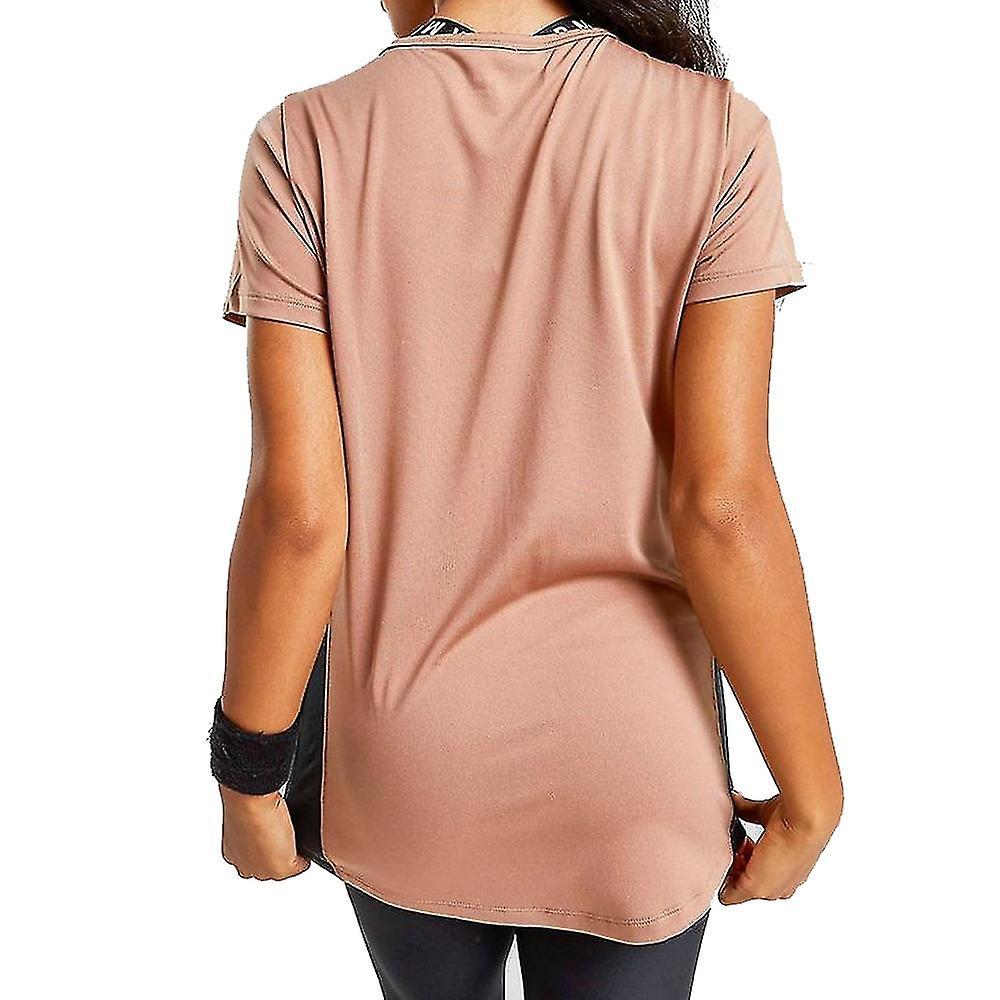 Under Armour Tech Colour Block Womens Gym Fitness Training T-Shirt Tee Bronze