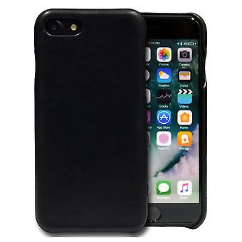 For iPhone SE(2020), 8 & 7  Case,iCoverLover Slim Genuine Sheep Leather Cover,Black