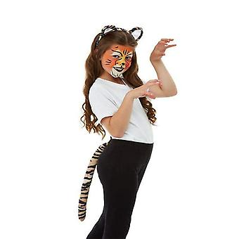 Smiffys make up FX, Kids Tiger kit, Aqua Child orange