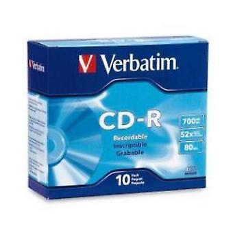 Letterlijke CD-R 700 MB 10Pk Slim Case 52x