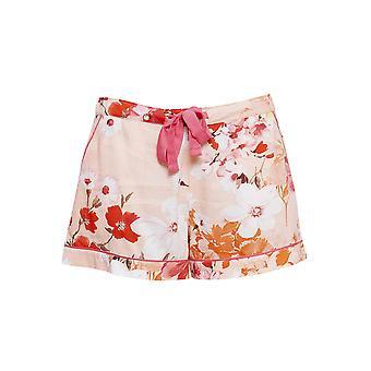 Cyberjammies 4427 Women's Darcie Coral Orange Floral Print Cotton Pyjama Short