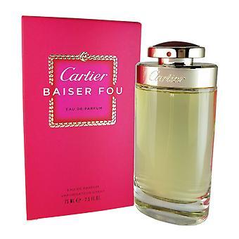 Cartier baiser fou para mujer de cartier 2.5 oz eau de parfum vaporizador