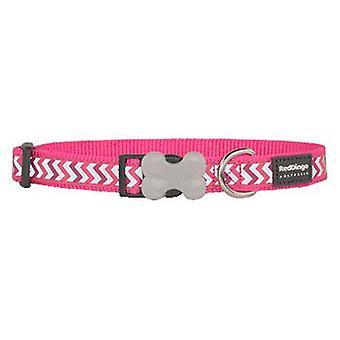 Röd Dingo hund krage reflekterande Ziggy hot Pink