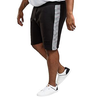 Duke D555 Mens Hayes Couture Big Tall King Size Joggers Bottoms Shorts - Black