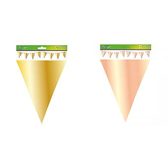 Oaktree Metallic Solid Colour Bunting