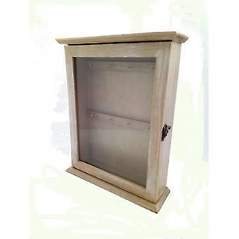 Pudełko na klucze ze szklanymi drzwiami