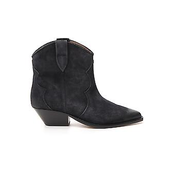 Isabel Marant 19abo017419a006s02fk Women's Black Suede Ankle Boots