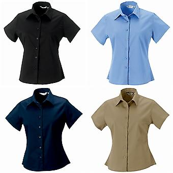 Russell Collection Womens/Ladies Short Sleeve Classic Twill Shirt