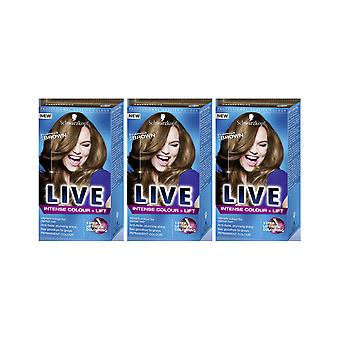 Schwarzkopf LIVE Intense Colour & Lift L54 Luminous Brown Hair Color Dye 3 For 2