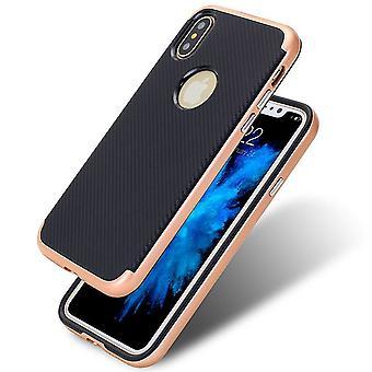 Durable carbon fiber bumper iphone x case