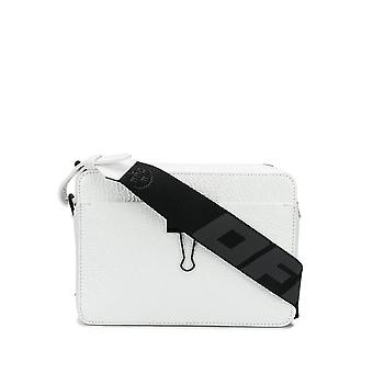 Off-white Omna070s20h610200100 Men's White Leather Messenger Bag
