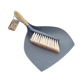 Homewares Bamboo Dustpan & Brush, Assorted Colours