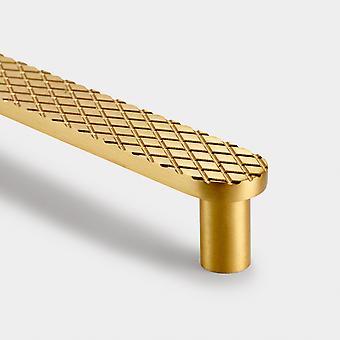 Brass Pull Handle - Gold - Hole Centre 128mm - Diamond