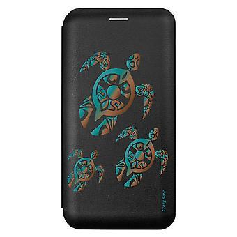 Fall für iPhone 11 schwarze Schildkröte Familie Muster