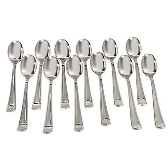 Bristol Novelty Silver Plated Disposable Spoons (Pack of 12)