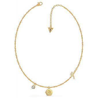 Guess UBN79159 Women's Gold Tone Peony Necklace