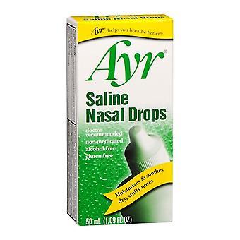 Ayr Saline nosovej kvapky, 1,69 oz