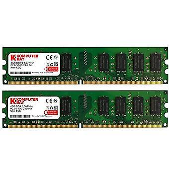 Komputerbay 8GB (2x4GB) DDR2 667mHz PC2-5300 PC2-5400 DDR2 667 (240 PIN) DImm Desktop Memory