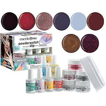 Cuccio Pro Powder Polish Nail Colour Dip System Dipping Powder - Urban Nites Collection Starter Kit (5022)