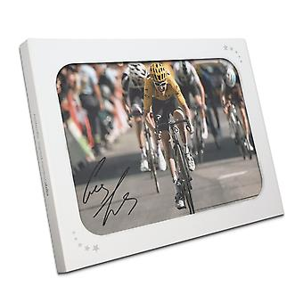 Geraint Thomas Gesigneerd Tour De France Foto: Alpe D'Huez Sprint Gift Box