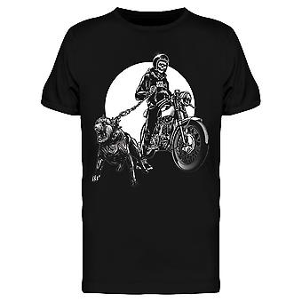 Skull Riders Motorcycle Dog Tee Men's -Afbeelding door Shutterstock