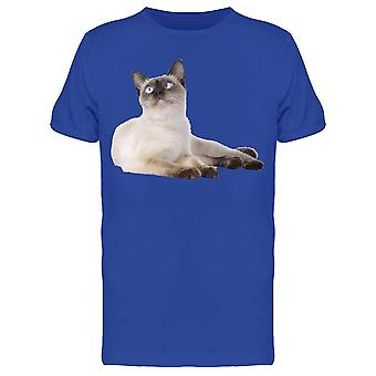 Thai Cat, Sitting Down Looks Up Tee Men's -Image by Shutterstock