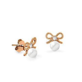 Boucles d'oreilles pour bébés Arc précieux 18K Or et diamants