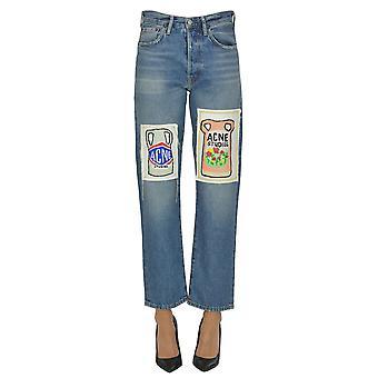 Acne Studios Ezgl151051 Women's Light Blue Cotton Jeans